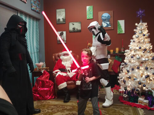 Star wars at the holidays