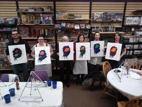 group painting fundraiser
